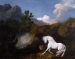 George Stubbs, Horse Frightened by a Lion (1770), Oil on canvas, 100.1 x 126.1 cm © National Museums Liverpool, Walker Art Gallery